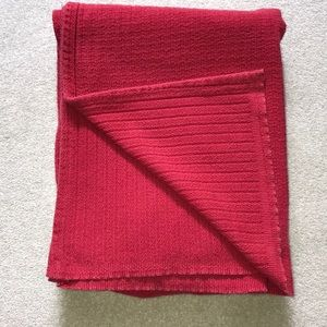 Ralph Lauren full/queen cotton knit blanket